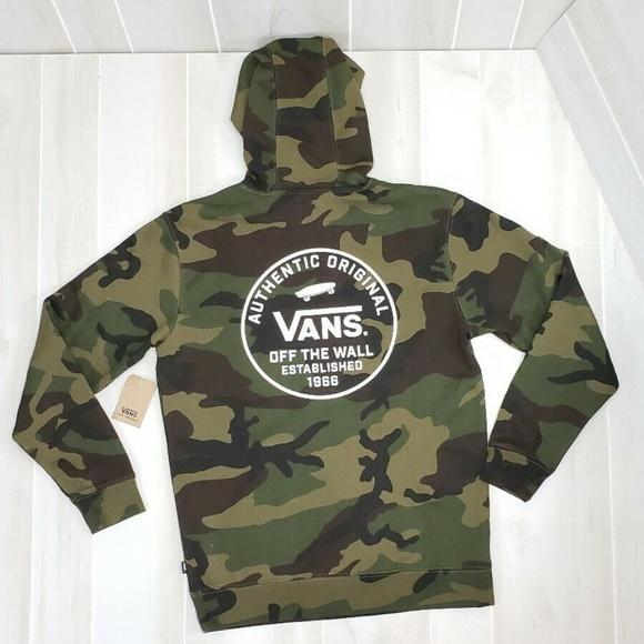 ad85fc32d1 VANS Camo Hoodie NWT Men's Sweatshirt DN18-19 NWT